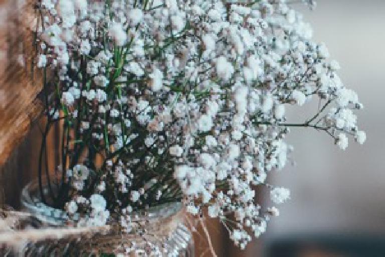 Blumen als Dekoration