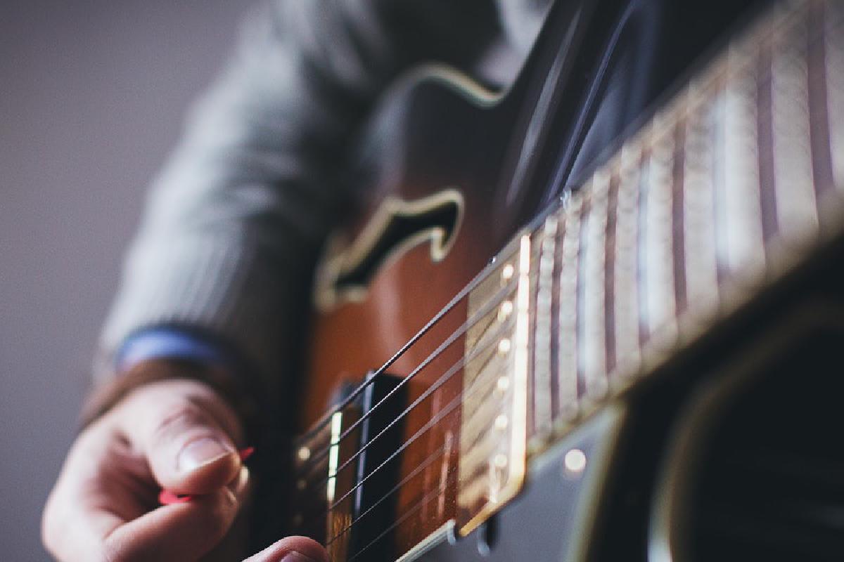 Nahaufnahme Gitarre