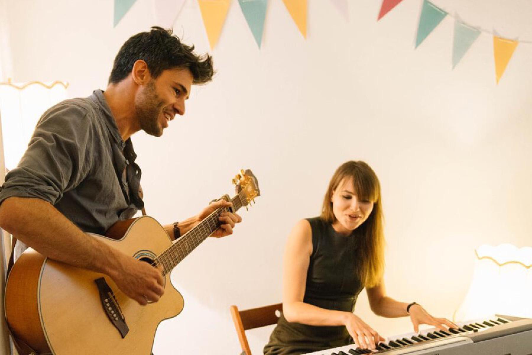 Musiker Konzert Wohnzimmer