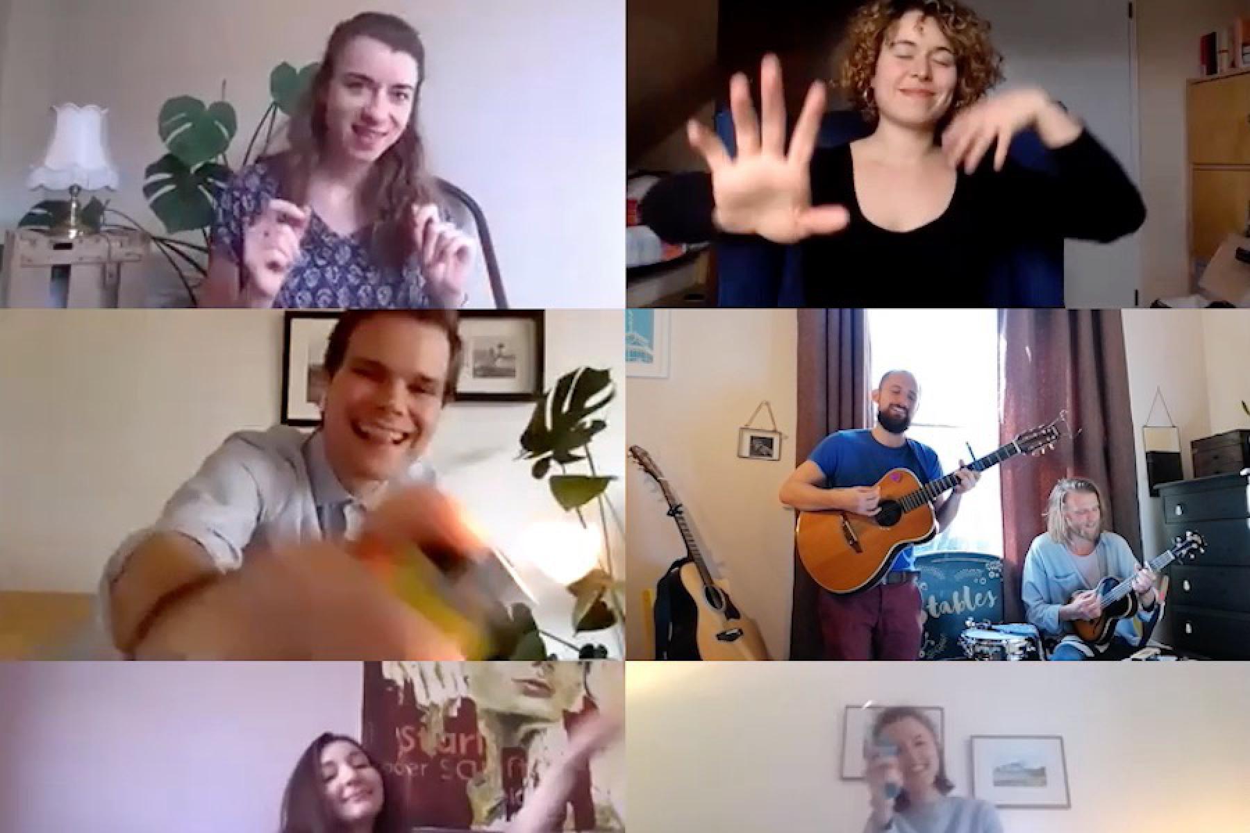 Livestream Zuschauer Collage
