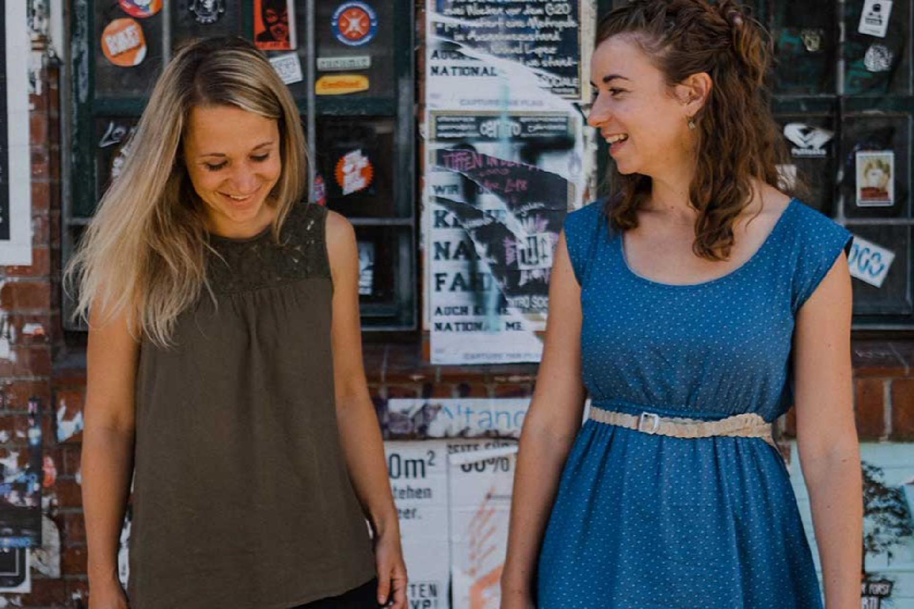 SofaConcerts Gründerinnen Miriam und Marie-Lene
