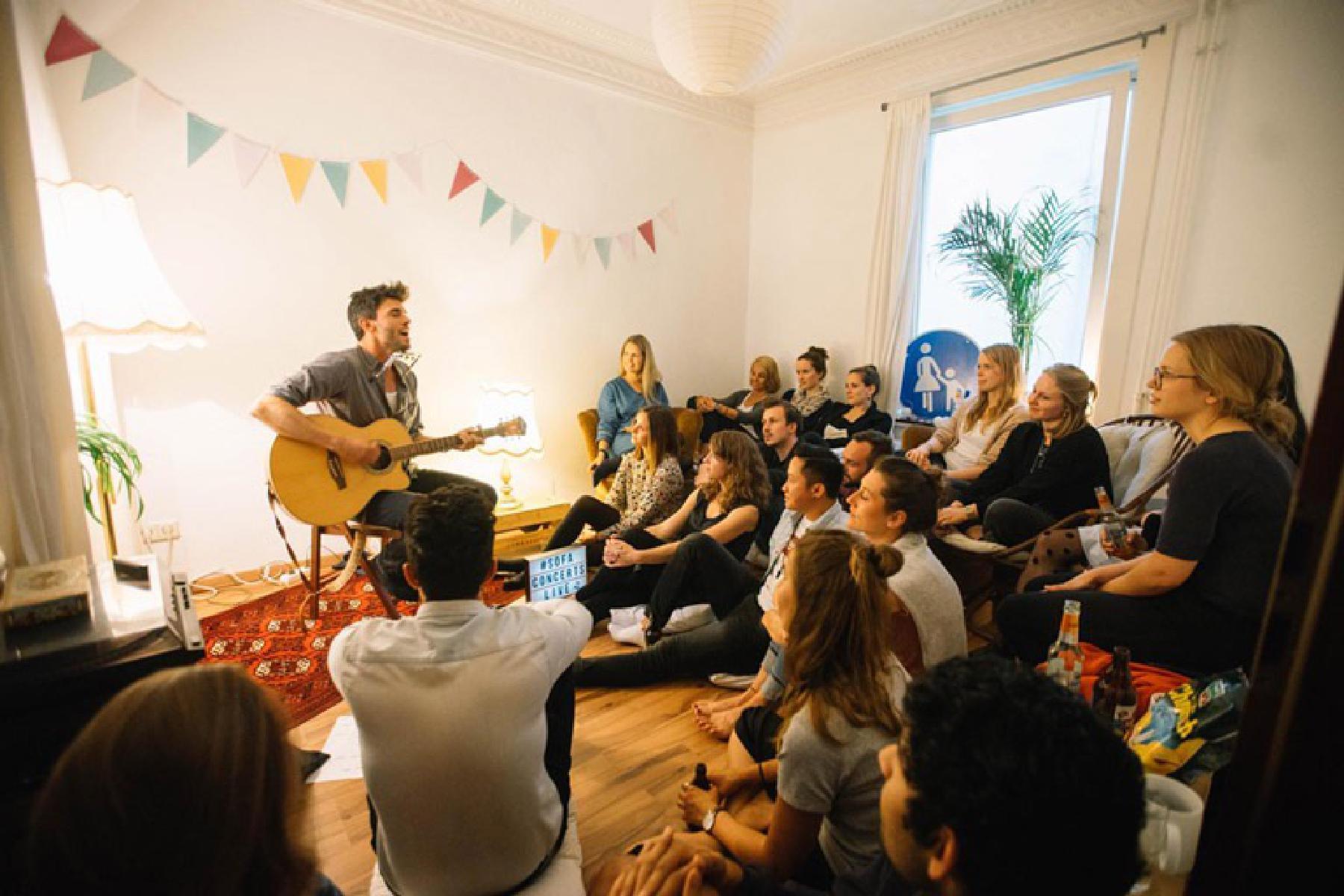 Geburtstagsparty mit Live-Musik