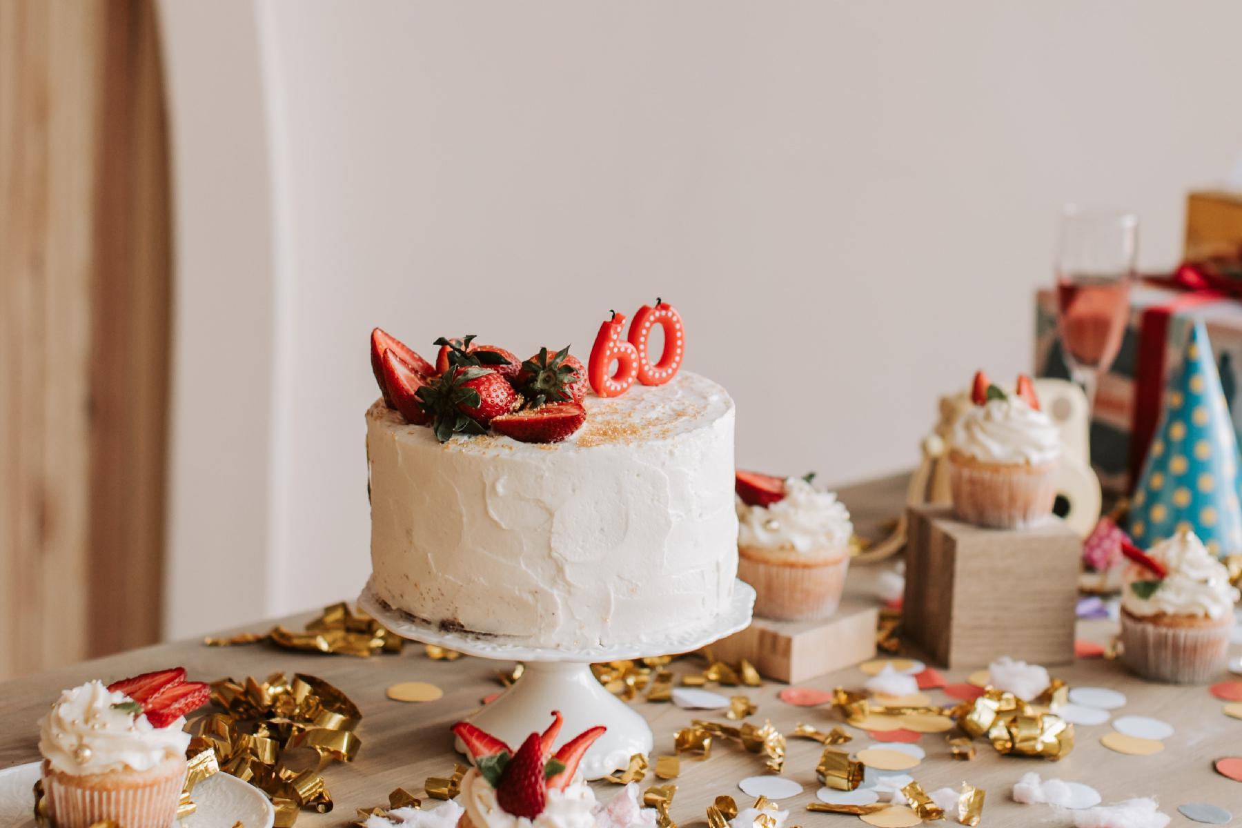 Geburtstagskuchen zum 60. Geburtstag